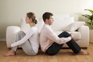 Young couple with relationship difficulties